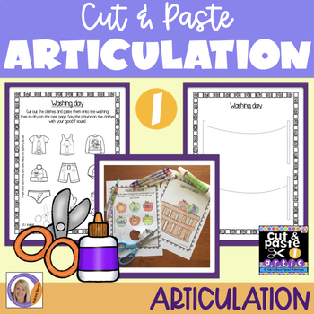 Articulation: Cut & Paste /l/ for speech and language therapy