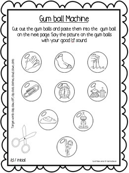 Articulation: Cut & Paste /l/ blends for speech and language therapy