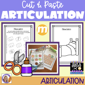 Articulation: Cut & Paste /m/ for speech and language therapy