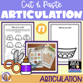Articulation: Cut & Paste /n/ for speech and language therapy