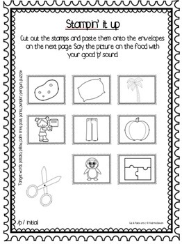 Articulation: Cut & Paste /p/ for speech and language therapy