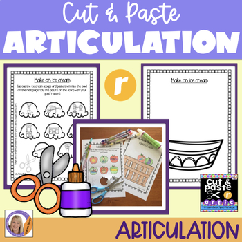 Articulation: Cut & Paste /r/ for speech and language therapy
