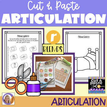 Articulation: Cut & Paste /r/ blends for speech and language therapy