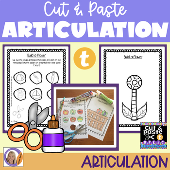 Articulation: Cut & Paste /t/ for speech and language therapy