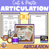Articulation: Cut & Paste /th/ for speech and language therapy