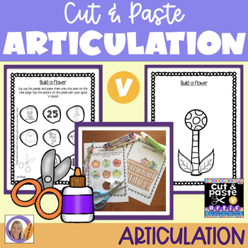 Articulation: Cut & Paste /v/ for speech and language therapy