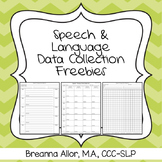 Articulation and Language Data Collection Freebie