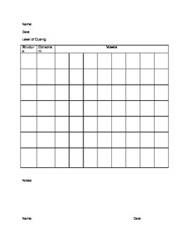 Articulation Data Sheets
