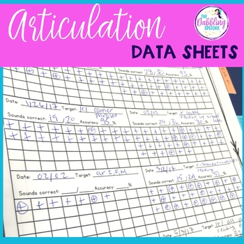 Articulation Data Sheets- Free Printable