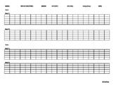 Articulation Data Tracking Sheet