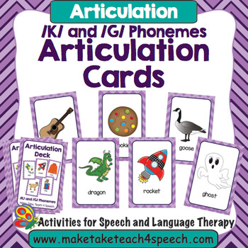 Articulation Deck - /K/ and /G/ Phonemes