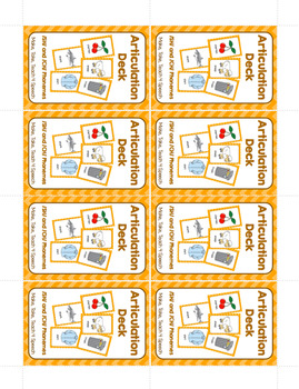 Articulation Deck - /SH/ and /CH/ Phonemes