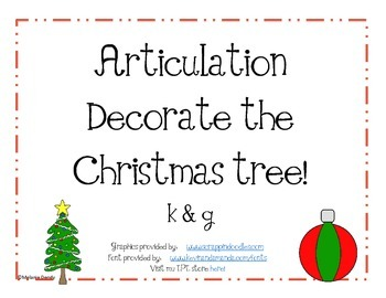 Articulation Decorate a Christmas Tree k & g