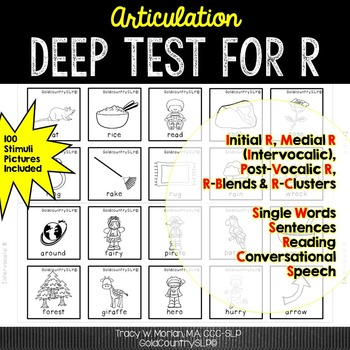 Articulation Deep Test - R with 100 Picture Stimuli 