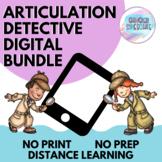 Articulation Detective Digital Bundle | No Prep, No Print