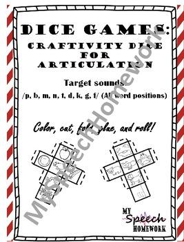 Articulation Dice Craft Early Sounds Bundle