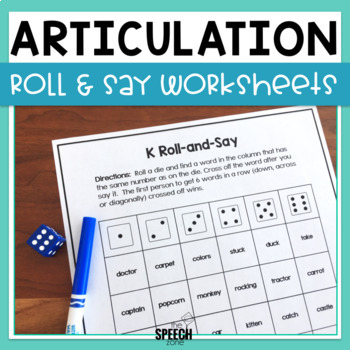 Articulation Dice Worksheets