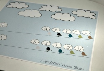 Articulation Digital Placemats Singing Birds - /R/, /S/, /L/