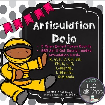 Articulation Dojo:  Act It Out Sound Loaded Articulation Cards
