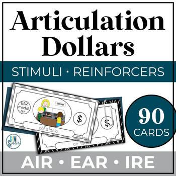 Articulation Dollar Bills - Vocalic R Set 2: AIR, EAR, IRE