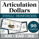 Articulation Dollar Bills: Vocalic R Set 2: AIR, EAR, IRE