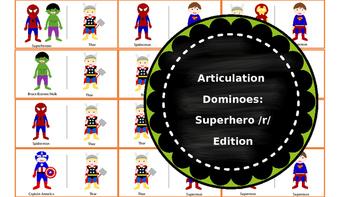 Articulation Dominoes FREEBIE: Superhero /r/ Edition
