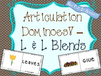 Articulation Dominoes Game - L and L Blends (MULTIPLE USES!)