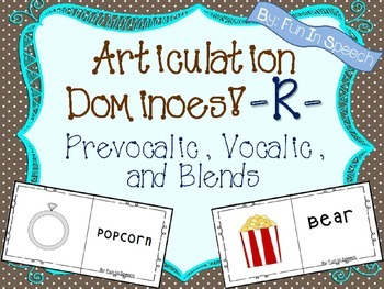 Articulation Dominoes Game - R (Prevocalic, Vocalic, and Blends)