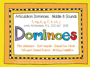 Articulation Dominoes: Middle 8 Sounds