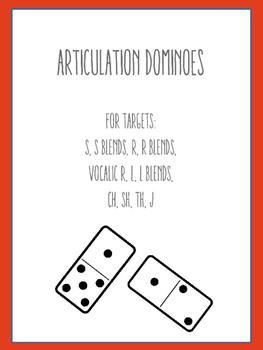 Articulation Dominoes: R, R Blends, Vocalic R, S, CH, SH, TH, J, L, L Blends