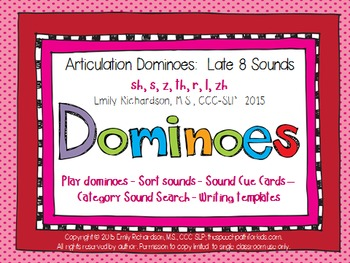 Articulation Dominoes: Late 8 Sounds