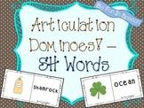 Articulation Dominoes - SH Words! (Multiple Uses!) FREEBIE!