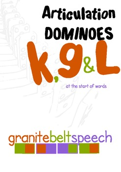 Articulation Dominoes k, g & L initial