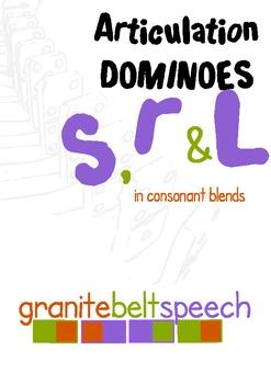 Articulation Dominoes s, r & l blends
