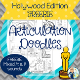 Articulation Doodles:  Hollywood Edition /r, s, l/ FREEBIE