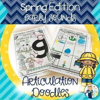 Articulation Doodles Spring Edition Early Sounds /p, b, m, t, d, k, g/