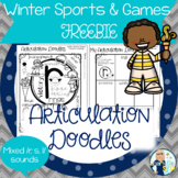 Articulation Doodles:  Winter Sports & Games FREEBIE