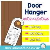 Articulation Door Hangers: No Prep Speech Therapy