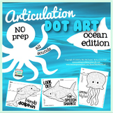 Articulation Dot Art ~ Ocean Edition! {all sounds & NO prep}