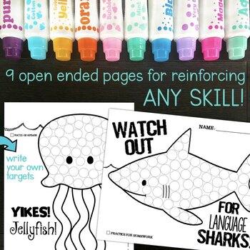 Articulation Dot Art ~ Ocean Edition! {all sounds & NO prep}