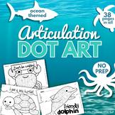 Articulation Dot Art  | Ocean Theme  |  All Sounds and NO Prep