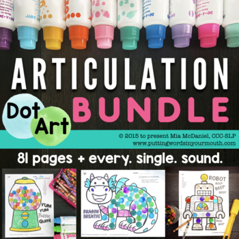 BUNDLED Dot Art {all sounds year 'round}