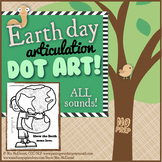 Articulation Dot Art for Earth Day | NO PREP
