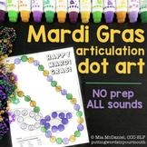 Articulation Dot Art for Mardi Gras | ALL sounds NO prep