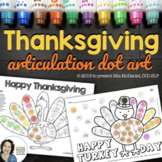 Articulation Dot Art for Thanksgiving | NO PREP