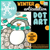 Articulation Dot Art for Winter | ALL sounds NO prep