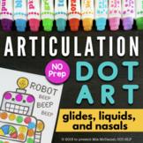 Articulation Dot Art | Glides, Liquids & Nasals | No PREP
