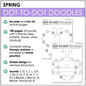 Articulation Dot-to-Dot Doodles- Spring