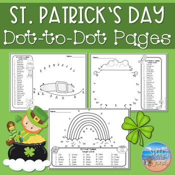 Articulation Dot-to-Dots: St. Patrick's Day
