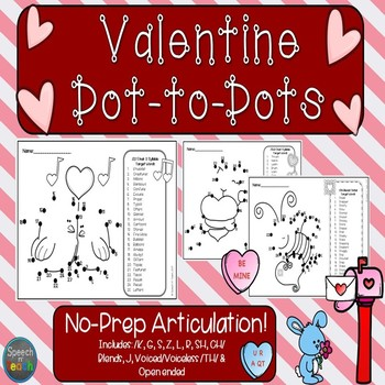 Articulation Dot to Dots: Valentine's Day Edition